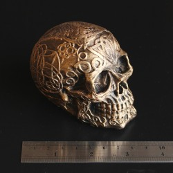 Celtic Skull - Small - Antique Gold Effect