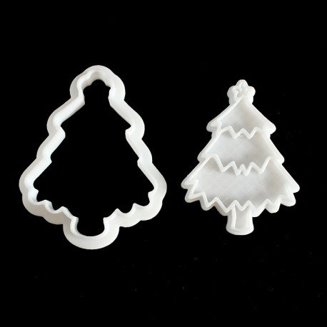 Xmas Tree Cookie Cutter with Stamp